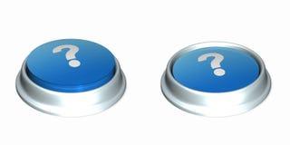 1 ερώτηση κουμπιών Στοκ φωτογραφία με δικαίωμα ελεύθερης χρήσης