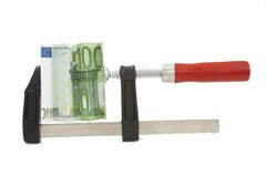 1 ευρο- πίεση Στοκ εικόνα με δικαίωμα ελεύθερης χρήσης