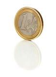 1 ευρο- shaddy νομισμάτων Στοκ Εικόνα