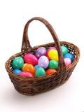 1 ζωηρόχρωμη λυγαριά αυγών Πάσχας καλαθιών Στοκ φωτογραφία με δικαίωμα ελεύθερης χρήσης