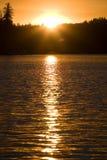 1 ηλιοβασίλεμα λιμνών Στοκ φωτογραφίες με δικαίωμα ελεύθερης χρήσης