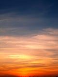 1 ηλιοβασίλεμα ουρανού Στοκ Εικόνες
