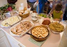 1 ημέρα των ευχαριστιών γευμάτων Στοκ Φωτογραφία