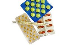 1 θερμόμετρο φαρμάκων Στοκ Εικόνες