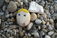 1 θετική πέτρα Στοκ εικόνα με δικαίωμα ελεύθερης χρήσης