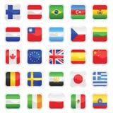 1 διάνυσμα σημαιών Στοκ Εικόνα