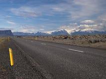 1 Ισλανδία κανένας δρόμος Στοκ φωτογραφία με δικαίωμα ελεύθερης χρήσης