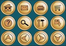 1 Ιστός κουμπιών Στοκ φωτογραφία με δικαίωμα ελεύθερης χρήσης