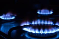 1 καίγοντας αέριο Στοκ Φωτογραφία