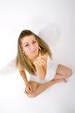 1 καθισμένη γυναίκα φτερών στοκ φωτογραφία με δικαίωμα ελεύθερης χρήσης