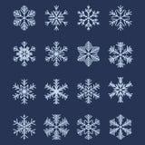 1 καθορισμένο απλό snowflake μορφών ελεύθερη απεικόνιση δικαιώματος