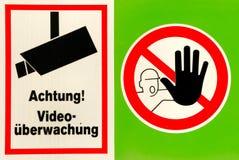 1 καμία προειδοποίηση σημαδιών Στοκ εικόνα με δικαίωμα ελεύθερης χρήσης