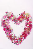 1 καρδιά κομφετί Στοκ εικόνες με δικαίωμα ελεύθερης χρήσης