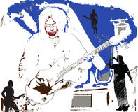 1 κιθαρίστας διανυσματική απεικόνιση