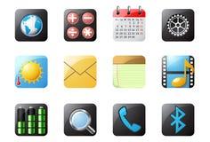 1 κινητό τηλέφωνο κουμπιών Στοκ Εικόνες
