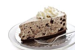 1 κομμάτι κρέμας μπισκότων τυριών κέικ Στοκ Εικόνες