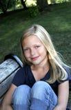 1 κορίτσι πάγκων Στοκ Εικόνες