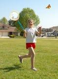 1 κορίτσι πεταλούδων Στοκ φωτογραφία με δικαίωμα ελεύθερης χρήσης