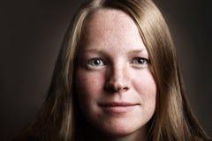 1 κορίτσι φακίδων Στοκ φωτογραφία με δικαίωμα ελεύθερης χρήσης
