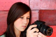 1 κορίτσι φωτογραφικών μηχ&alp Στοκ φωτογραφίες με δικαίωμα ελεύθερης χρήσης