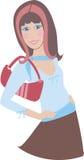 1 κορίτσι brunette Στοκ Εικόνες