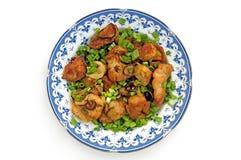 1 κοτόπουλο που τηγανίζ&epsilon Στοκ Εικόνες