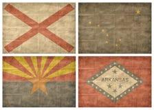 1 κράτος 13 σημαιών εμείς Στοκ Εικόνα