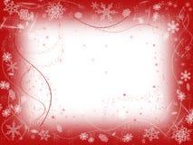 1 κόκκινος χειμώνας Στοκ Φωτογραφία