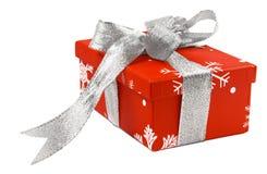 1 κόκκινο δώρων κιβωτίων Στοκ εικόνα με δικαίωμα ελεύθερης χρήσης