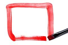 1 κόκκινο πλαισίων Στοκ εικόνες με δικαίωμα ελεύθερης χρήσης