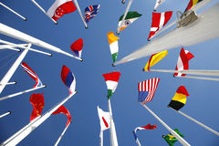 1 κόσμος σημαιών Στοκ Φωτογραφία