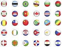 1 κόσμος σημαιών Στοκ φωτογραφία με δικαίωμα ελεύθερης χρήσης