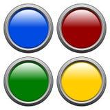 1 κύκλος κουμπιών Στοκ Εικόνες
