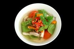 1 λαχανικό σούπας κοτόπου& Στοκ εικόνες με δικαίωμα ελεύθερης χρήσης