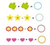 1 μέρος παιχνιδιών math Στοκ φωτογραφίες με δικαίωμα ελεύθερης χρήσης