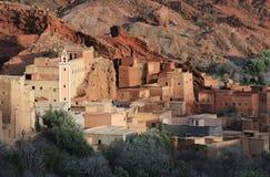 1 μαροκινό χωριό Στοκ φωτογραφία με δικαίωμα ελεύθερης χρήσης