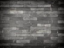 1 μαύρος τουβλότοιχος Στοκ Φωτογραφίες