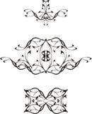 1 μαύρο διάνυσμα tatoo Στοκ εικόνες με δικαίωμα ελεύθερης χρήσης