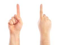 1 μετρώντας αρσενικός αριθμός χεριών Στοκ Εικόνες
