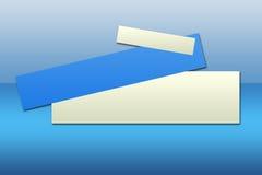 1 μπλε εμβλημάτων διανυσματική απεικόνιση