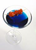 1 μπλε κοκτέιλ Στοκ φωτογραφία με δικαίωμα ελεύθερης χρήσης