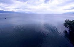 1 μπλε ohrid Στοκ φωτογραφία με δικαίωμα ελεύθερης χρήσης