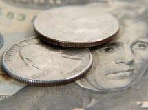 1 νόμισμα στοκ εικόνες