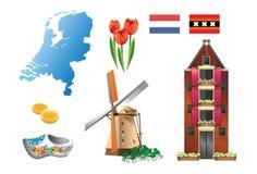1 ολλανδική σειρά χωρών Στοκ φωτογραφία με δικαίωμα ελεύθερης χρήσης