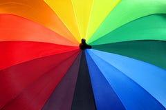 1 ομπρέλα ουράνιων τόξων Στοκ φωτογραφίες με δικαίωμα ελεύθερης χρήσης