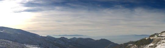 1 οροσειρά πανοράματος τη& Στοκ Φωτογραφία