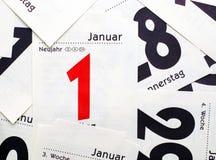 1$ο ευτυχές νέο έτος Ιανο&upsil Στοκ Εικόνα