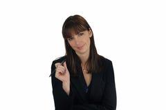 1 πέννα μελανιού επιχειρηματιών brunette Στοκ Εικόνες