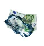 1 παγωμένα χρήματα Στοκ εικόνες με δικαίωμα ελεύθερης χρήσης