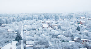 1 παγωμένο χωριό Στοκ εικόνα με δικαίωμα ελεύθερης χρήσης